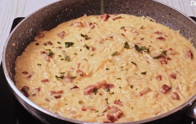 Pasta sa slaninom i pavlakom za kuvanje