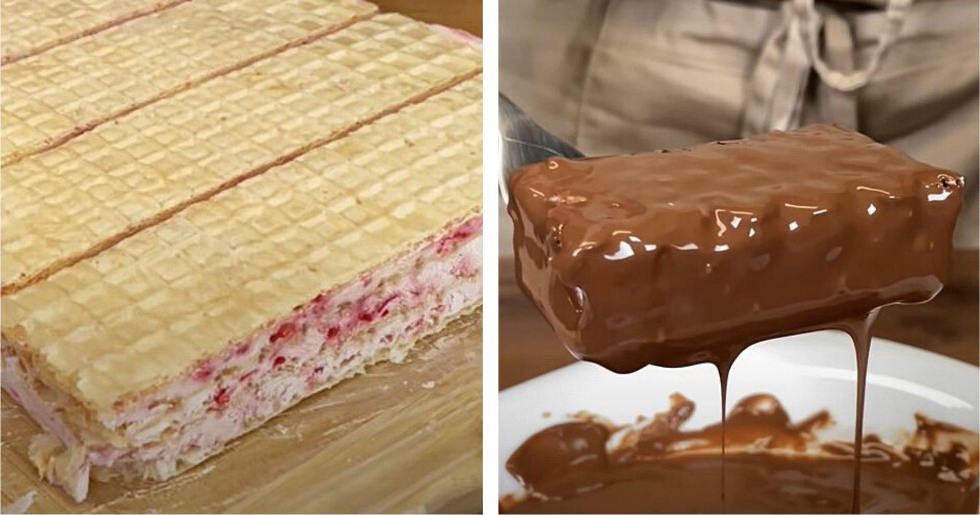 Oblande sa čokoladom i malinama